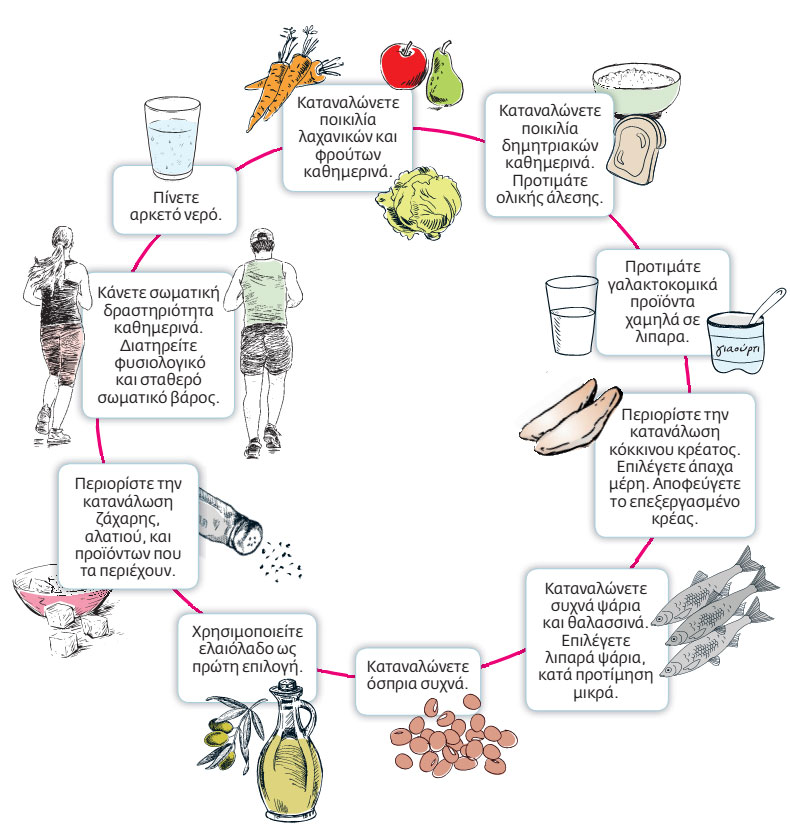 Rules of healthy eating for adults