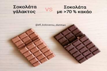 Σοκολάτα γάλακτος vs Μαύρη σοκολάτα